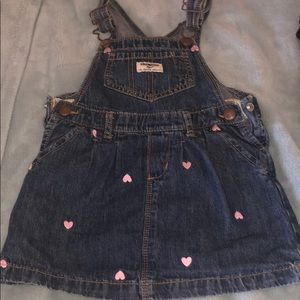 Toddler girl overall dress